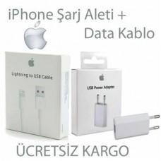 iPhone 6 5 7 8 X Şarj Kablo Ve Şarj Adaptör Aleti