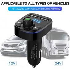 Oto Çakmaklık Araç Kiti X8 Transmitter Bluetooth-ÇAĞRI-MÜZİK-FM