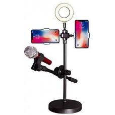 Live Voice Profesyonel Cep Telefonu Standı 16cm selfie ışıklı FirstRate Ürün Mikrofon Standı