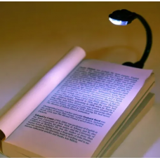 Kitap Okuma Işığı Led Booklight Kıskaçlı pilli Model Led Işık
