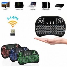 Işıklı Kablosuz Şarjlı Mini Q Klavye Mouse Smart TV Box PS3