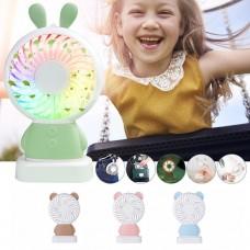İki Kademeli Led Işıklı Tavşan Tipi Mini Soğutucu Fan Vantilatör