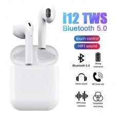i12 TWS Bluetooth V5.0 Kablosuz Kulaklık i12 TWS iPhone Bluetooth Kulaklık HD Ses Kalitesi