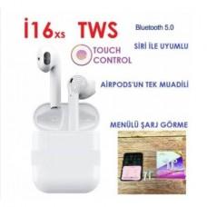 İ16XS TWS V5.0 Dokunmatik Bluetooth Kulaklık HD Ses-2019 -POP UP