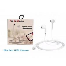 IPhone 7 / 8 / X / Xs / Xr Lightning Bluetooth Girişli Kulaklık Mikrofon Özellikli Kablolu Kulaklık