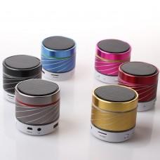S07U Mp3 Çalar Bluetooth FM Radyo Desenli Mini Speaker