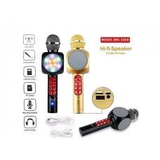 WS1816 Kablosuz Işıklı Bluetooth Karaoke Mikrofonu Aux USB Kart