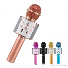 WS-858 Karaoke Mikrafon Bluetooth Mp3 Çalar Sd-Usb-Aux Girişli
