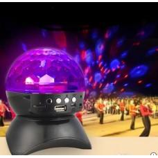 Dönen Işıklı Disko Topu MP3 Usb Çalar Bluetooth Hoparlör L-740